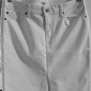 Gap White Denim Skirt